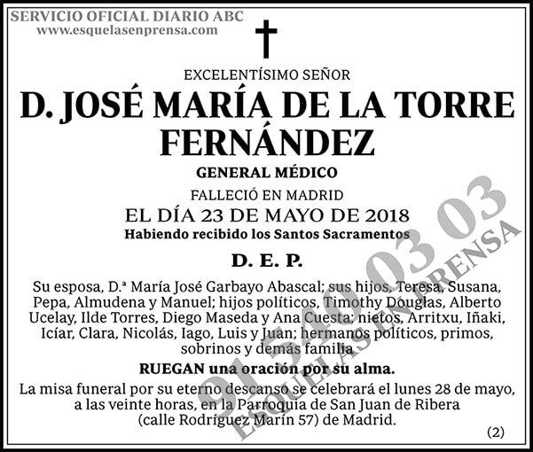 José María de la Torre Fernández